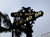 Rodeo Drive Sign 01 NTSC Stock Footage