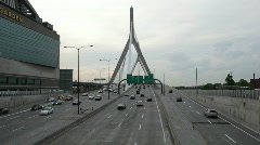 zakim bridge time lapse - stock footage