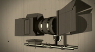 T196 DSLR vDSLR HDSLR rig setup PNG loop looping retro film 35mm 16mm Stock Footage