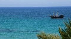 Ship in Mediterranean Sea Stock Footage