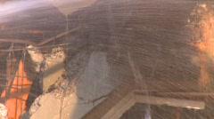 Building demolition, zoom Stock Footage