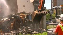 Building demolition, excavators and jackhammers, #8 Stock Footage