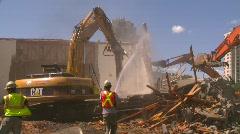 Building demolition, excavators and jackhammers, #6 Stock Footage