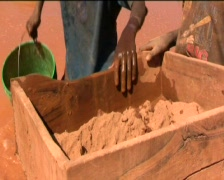 children in the gold mines  - stock footage
