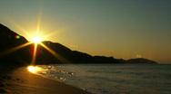 Beautiful sunset glow Stock Footage