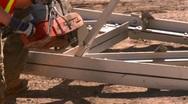 Steel cutting saw, #1 Stock Footage