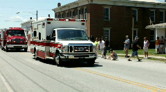 Chester Township ambulance in firemans parade Stock Footage