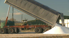Truck tips fertilizer Stock Footage