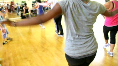 Fitness Dance Class Stock Footage