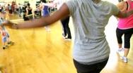 Fitness Dance Class Stock Footage