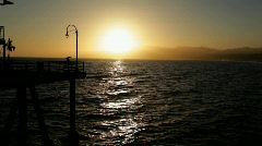Santa Monica Sunset 02 HD Stock Footage