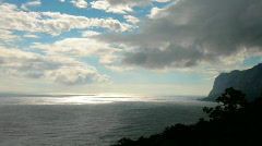 Clouds over the Black Sea Stock Footage