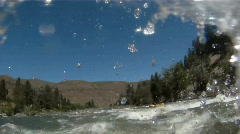 River rafting POV Stock Footage