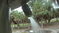 Outdoor Shower 05 Stock Footage