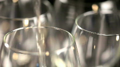 White wine - stock footage
