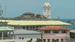 A view over the old port of Stone Town, Zanzibar. Stock Footage