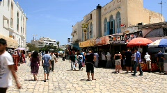 Marketplace in medina, Tunisia, Sousse Stock Footage