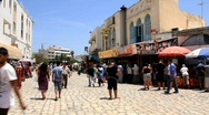 Marketplace in medina, Tunisia, Sousse Stock Footage