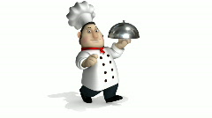 Chef run - stock footage