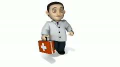 Doctor with Briefcase 3d Stock Footage