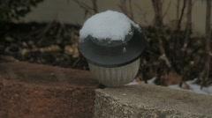 Snow lantern Stock Footage