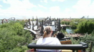 Stock Video Footage of Harry Potter Roller Coaster
