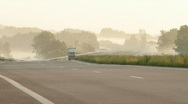 Cars on highway Stock Footage