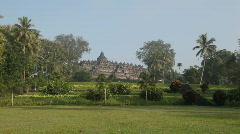 Borobudur temple Stock Footage