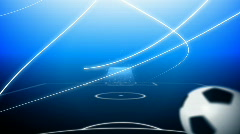 Flying soccer ball Stock Footage