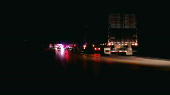 Emergency crew at accident at night Stock Footage