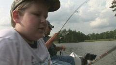 Kid Fishing Stock Footage