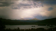 Lake and rockies tlapse-HD-41-35,41 Stock Footage