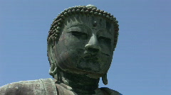 Japanese Giant Buddha in Kamakura 1 - Top of the head. Stock Footage