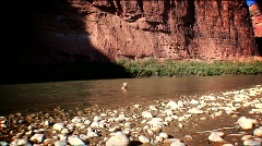 Moab, Utah colorado river cute little girl in river-HD-42-3,4 Stock Footage