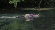 Stock Video Footage of Swimming in river