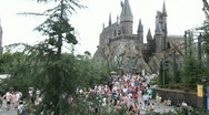 Stock Video Footage of Hogwarts Castle