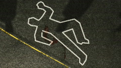 Crime Scene Investigation Zoom Out HD Stock Footage