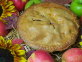 Stock Video Footage of Apple Pie On Display NTSC