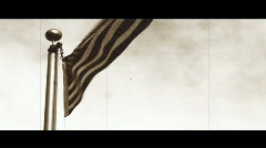 American Flag Old Film - stock footage