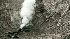 View inside the Bromo crater. - stock footage