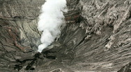 Stock Video Footage of View inside the Bromo crater.