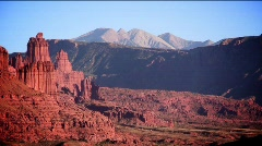 Moab Utah  fisher towers 9,12 Stock Footage