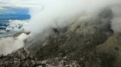 View from the top of the Merapi volcano. Stock Footage