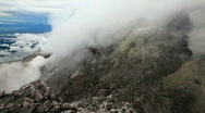 Stock Video Footage of View from the top of the Merapi volcano.