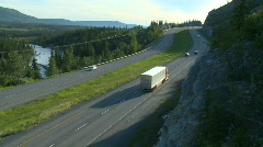 Truck on Highway 01 Stock Footage