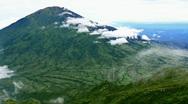 Merbabu mountain Stock Footage