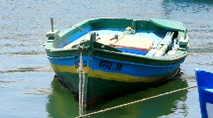 Green boat Stock Footage