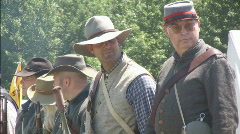 Closeup of Confederate Civil War Soldiers Stock Footage