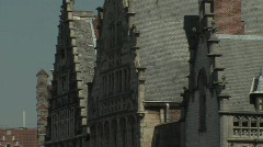 Ghent old houses Stock Footage
