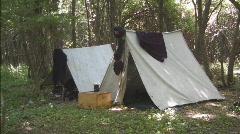 Civil War Tents Stock Footage